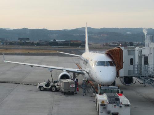 出雲空港にてJ-AIR